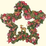 Star Wreath with Ornaments